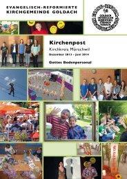 Kirchenpost - Evang.-ref. Kirchgemeinde Goldach