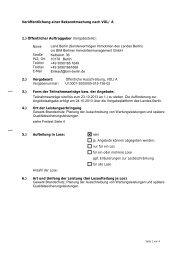 Veröffentlichung einer Bekanntmachung nach VOL - Die ...