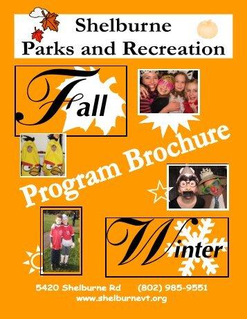 Fall/ Winter 2013 Program Brochure - Town of Shelburne