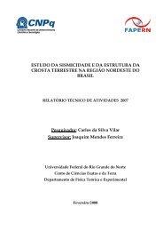 Estudo da Sismicidade e da Estrutura da Crosta Terrestre ... - FAPERN