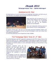 Chronik 2013 - Polizeisportverein Tirol Sektion Motorsport