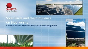 Solar Parks and their Influence on Biodiversity - EU PV Platform