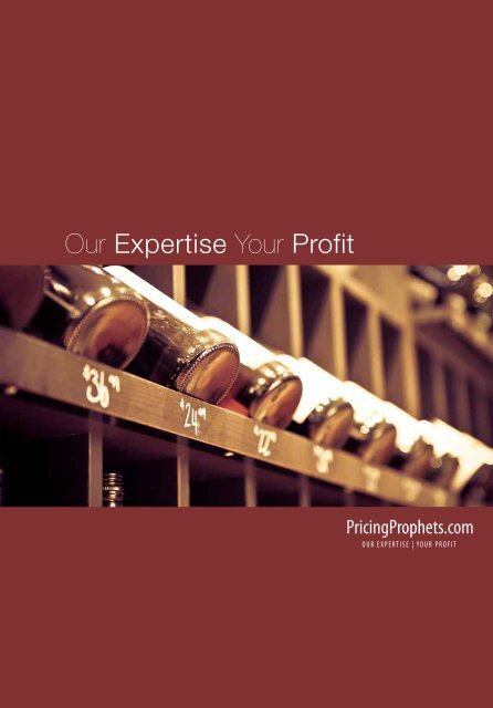 Download our Corporate Brochure here for more ... - Pricing Prophets