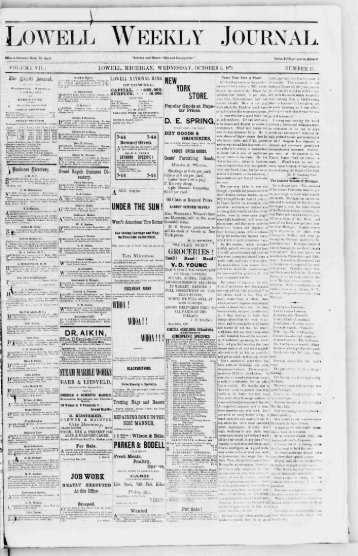 Lowell Weekly Journal for October 4, 1871 - To Parent Directory