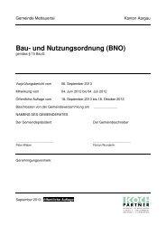 Bau- und Nutzungsordnung (BNO) - Gemeinde Mettauertal