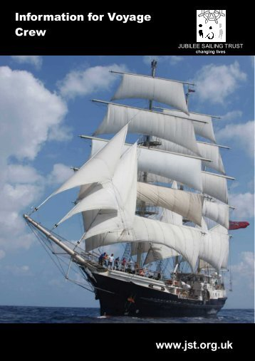 Information for Voyage Crew Booklet 2013 - Jubilee Sailing Trust