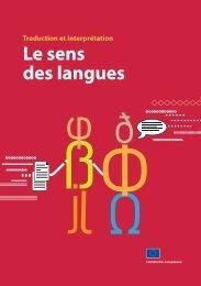 Traduction et interprétation Le sens des langues - EU Bookshop ...