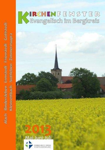 Gemeindebrief 2 - 2013 - Evangelisches Pfarramt Bindersleben ...
