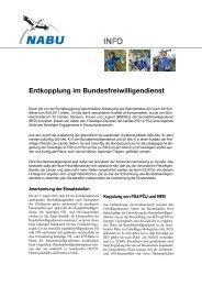 Entkopplung im Bundesfreiwilligendienst - NABU-Netz