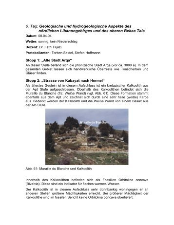 6. Tag: Geologische und hydrogeologische Aspekte des ... - wwwuser