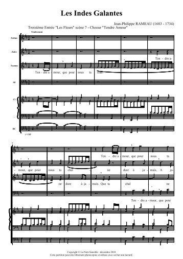 RAMEAU indes galantes quatuor Tendre Amour Ré Majeur.pdf - Musili