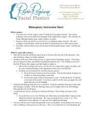 Rhinoplasty Post-Op Instructions - River Region Facial Plastics