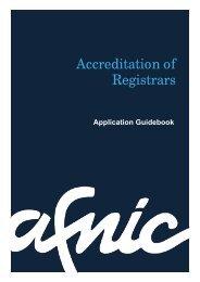 Accreditation of Registrars - Afnic