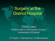 Surgery at the District Hospital - University of Toronto