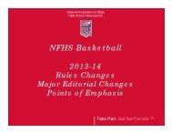 2013-14 NFHS Basketball Rule Changes - NHIAA