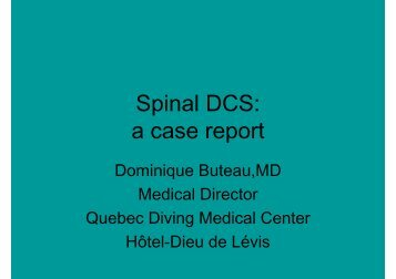 Spinal DCS: a case report
