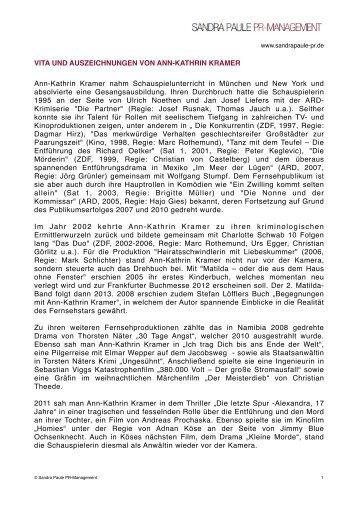 VITA als PDF-Datei laden - Sandra Paule PR-Management