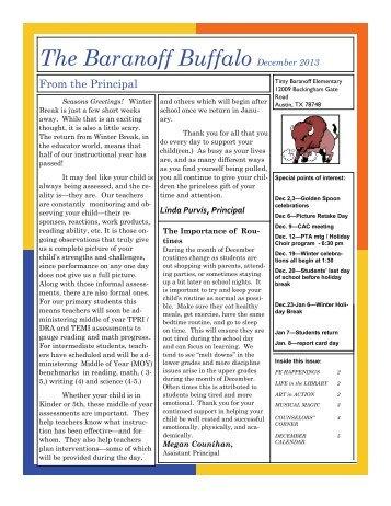 Baranoff Newsletter
