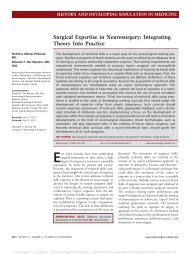 Surgical Expertise in Neurosurgery: Integrating Theory Into ... - CHUQ