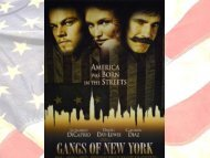 Gangs of New York Presentation of the Martin ... - American Cities