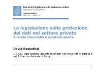 Das Datenschutzgesetz im privaten Bereich