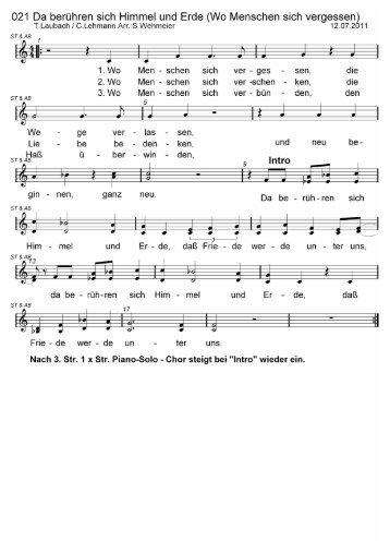 Songtext neu kennenlernen