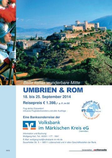 Reiseprospekt Umbrien und Rom (pdf; 2 MB) - Volksbank im ...