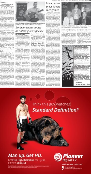 Pages 9-10. - Kingfisher Times and Free Press