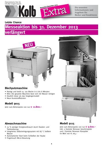 Kolb Extra November/Dezember - kolb.at