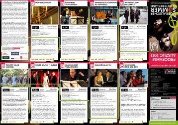 Musikalischer Sommer Programmauszug 2013