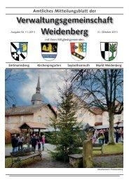 Ausgabe 11 / 2013 - Markt Weidenberg