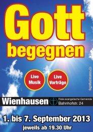 Gott begenen Flyer - FeG Wienhausen
