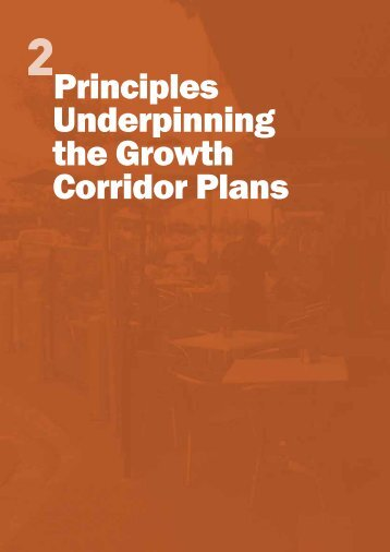 Principles Underpinning the Growth Corridor Plans