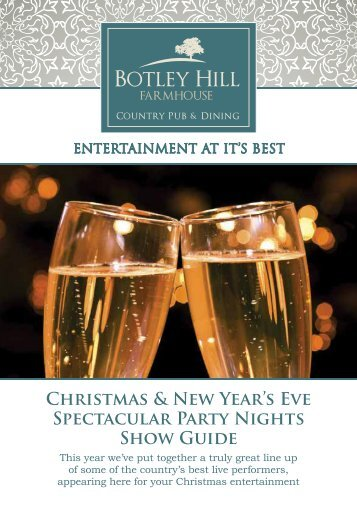 Download the Christmas show guide PDF - Botley Hill Farmhouse