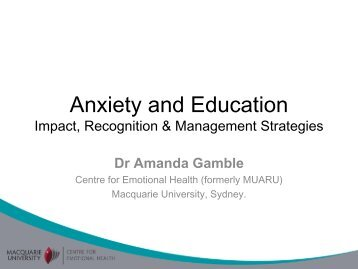 Does Anxiety Effect How Students Learn? - CHERI - The Children's ...