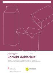 Allergene korrekt deklariert - Bundesamt für Gesundheit - admin.ch