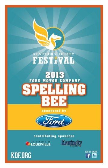 Spelling Bee Word Guide - Scribner Middle School