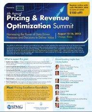 Pricing & Revenue Optimization Summit - Freeborn & Peters LLP