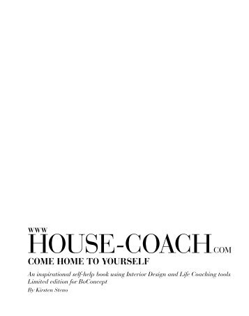to download the first 3 chapters from my book for free - House Coach