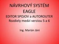 ROZDIELY V NÁVRHU DOSKY PLOŠNÝCH SPOJOV EAGLE 5 a ...