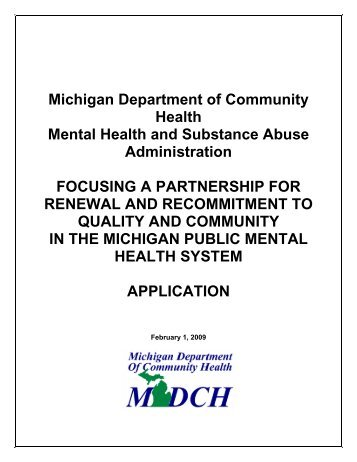 Michigan Department of Community Health Mental ... - Ottawa County