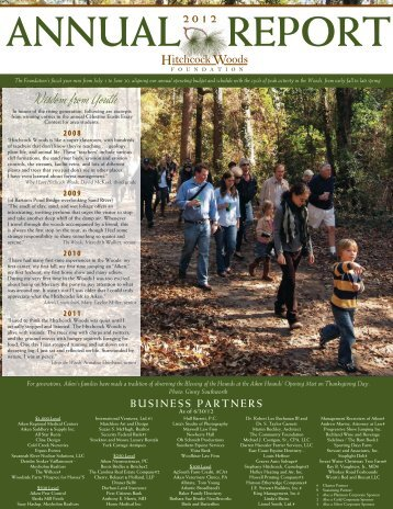 annual report 2012 - Hitchcock Woods Foundation