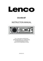 CS-455 BT INSTRUCTION MANUAL - Lenco
