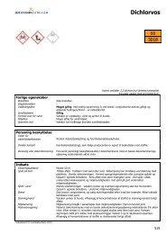 Dichlorvos - Information om farlige stoffer