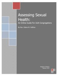 Assessing Sexual Health: - Unitarian Universalist Association of ...