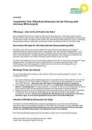 Tempelhofer Feld: Öffentliche Diskussion bei der Planung statt ...