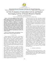 In Vitro Evaluation of Antioxidant Activity and Radical ... - IJETAE