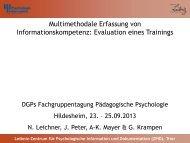 Multimethodale Erfassung von Informationskompetenz ... - ZPID