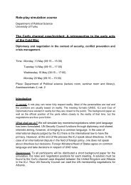 Role-play simulation course The Corfu channel case/incident: A ...