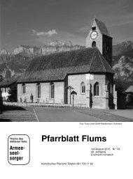 Pfarrblatt Flums - Pfarrei St. Justus Flums